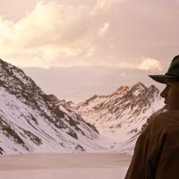 Ryan looking towards mountains