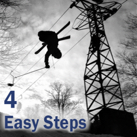 Ryan Jump with 4 Easy Steps text