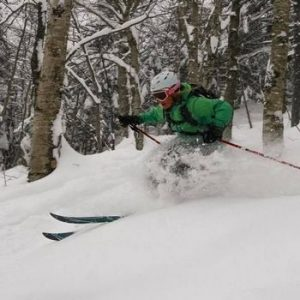 Jessica Silverman skiing