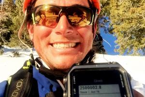 Aaron with GPS reading 2.5 million ft