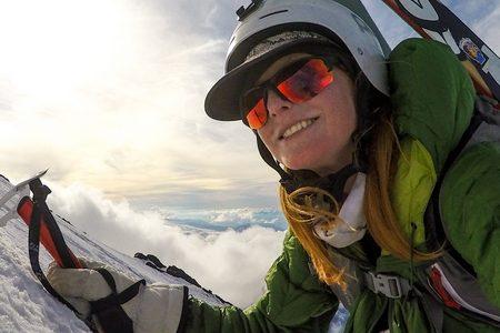 Madeline Dunn climbing