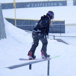 Dani Sweet snowboarding