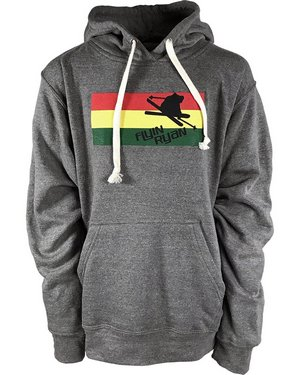 Hoodie, grey with tri-color flyin ryan logo
